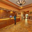 Econo Lodge hotel lobby and front desk