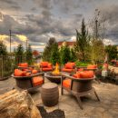 fire pit lounge area near Courtyard by Marriott Pigeon Forge TN