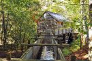 water mill in woods near Econo Lodge Pigeon Forge TN