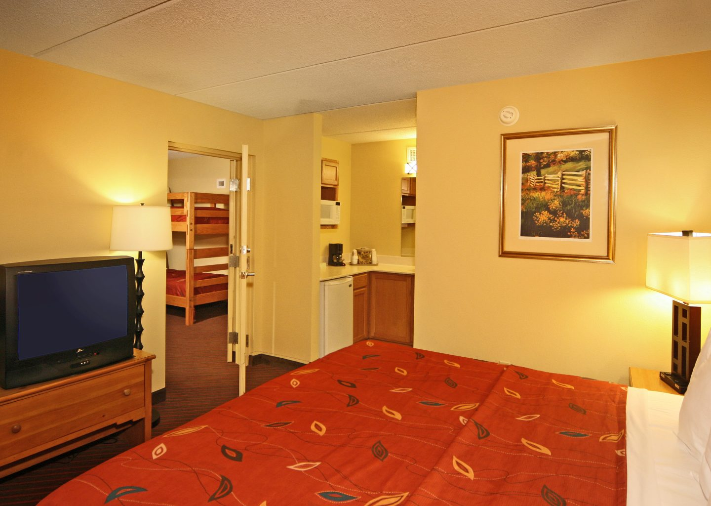 Econo lodge pigeon forge one bed guestroom