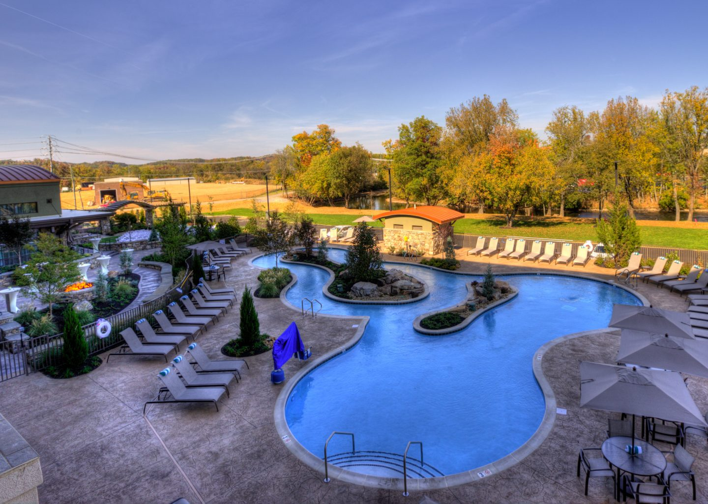 outdoor pool at Courtyard by Marriott Pigeon Forge TN