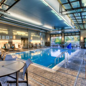 indoor pool at Courtyard by Marriott Pigeon Forge hotel