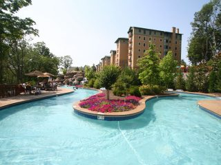 lazy river at Riverstone Resort & Spa in Pigeon Forge,TN