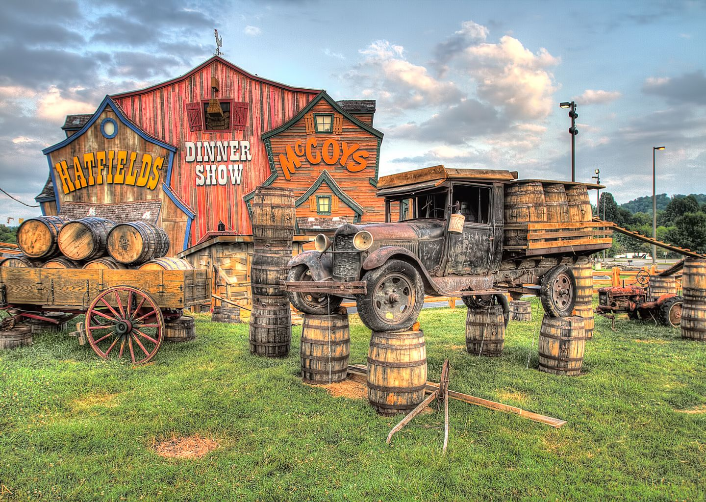 Hatfield and McCoy attractions in Pigeon Forge near Econo Lodge in TN